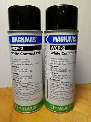 Magnaflux Wcp-2 Bright White Magnavis 2 Cans - Magnetic Particle Inspections