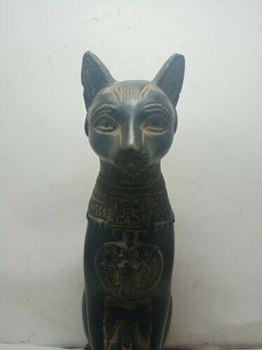 RARE ANTIQUE ANCIENT EGYPTIAN Statue Goddess Bastet Cat Isis Scarab 1740-1695 Bc
