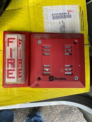 Simplex Fire Horn Strobe Combo Wall Mount 4903-9101 2901-9838