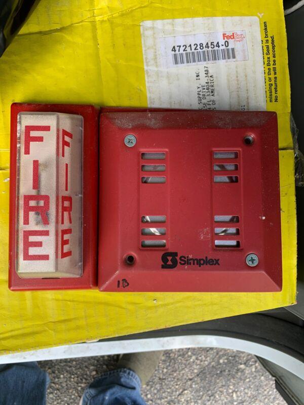 Simplex Fire Horn Strobe Combo Wall Mount 4903-9101 / 2901-9838