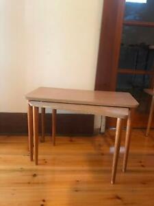 Set of 2 nesting tables, Danish modern, midcentury, vintage retro
