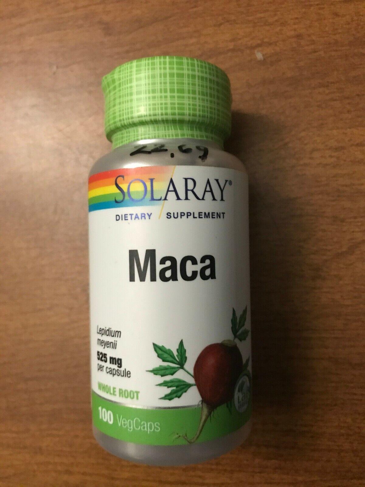 Solaray Maca Whole Root  525 mg 100 Veg Caps