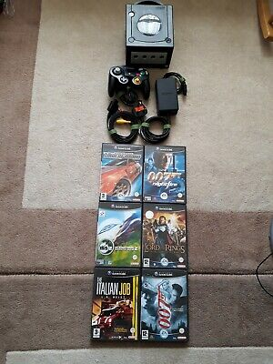 Nintendo Black Gamecube Console With Games