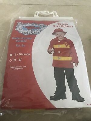 Brave firefighter Halloween costume/ dress up/ role play size 2T -4T (2t Fireman Halloween Costume)