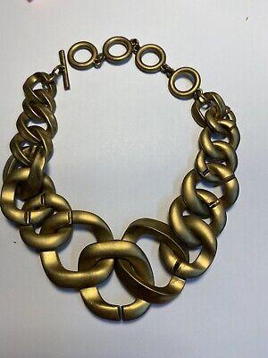 NWOT ZARA GOLDEN Chunky Metal Chain Link Necklace Fashion Statement Heavy F16
