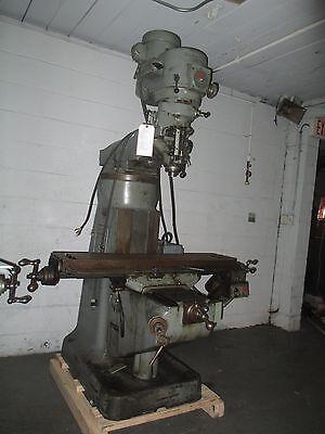 Bridgeport 1 12 Hp Vari-speed Vertical Milling Machine Br2j Riser Pwr Fd