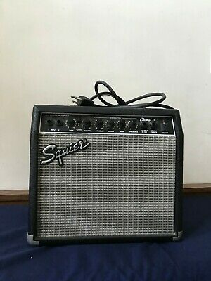 Fender Squier Champ 15 Guitar Amplifier PR-408 2 Input 28 W Practice Amp Cable