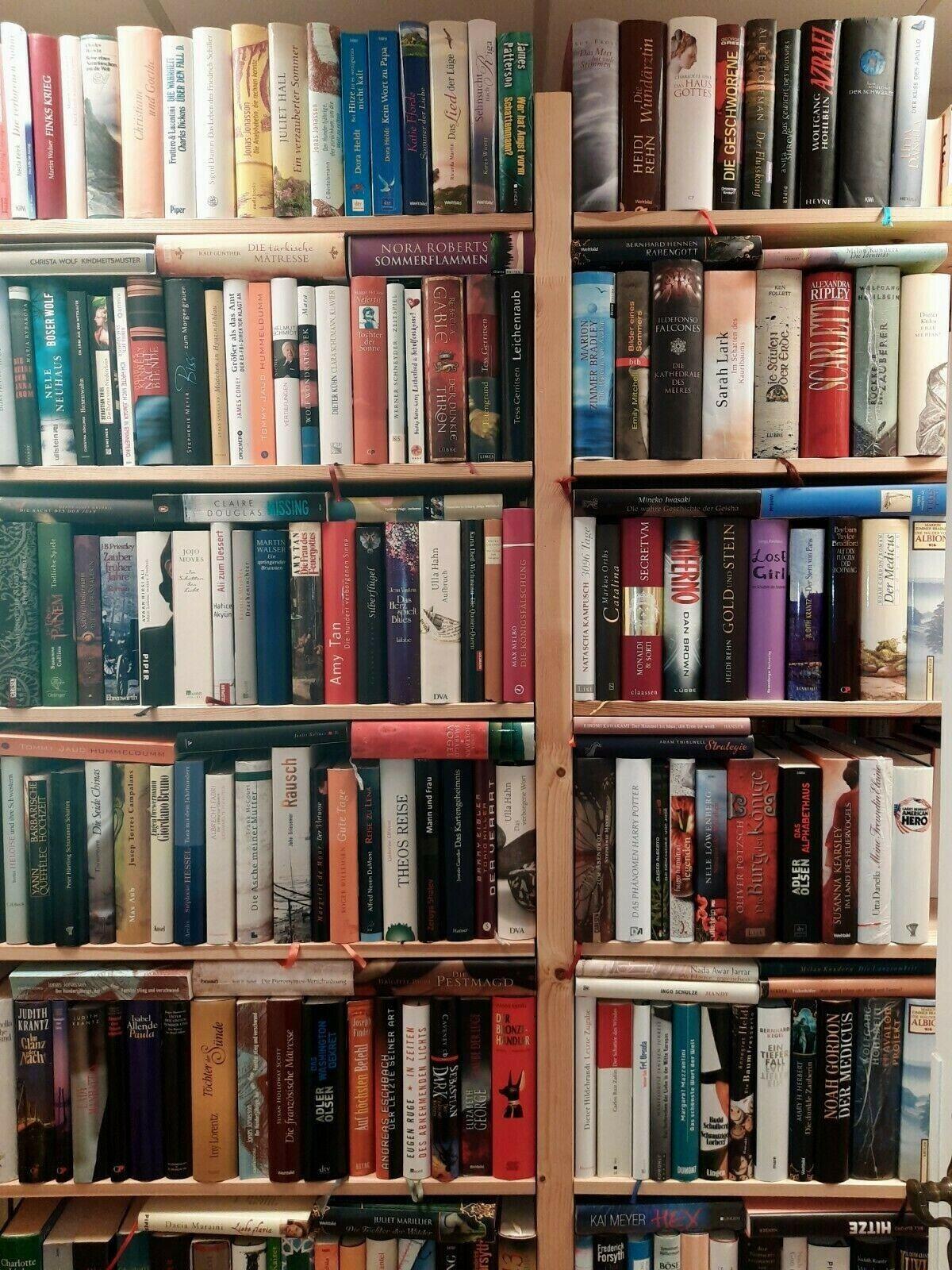 25 Gebundene Bücher Romane gemischt: Krimi Liebe Historisch Fantasy - Sammlung