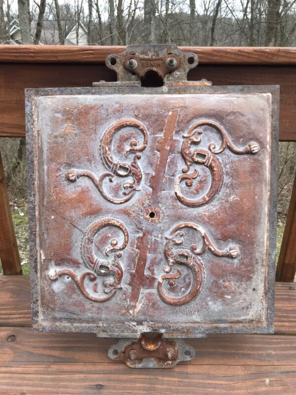 Antique Foundry Casting Mold Ornate Design Industrial Factory Wall Art