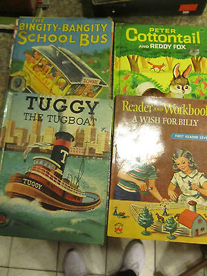 Wonder Books Lot of 4 Bingity Bang Reader and workbook Cottontail Tuggy