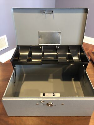 Buddy Products Vintage Cash Change Metal Box Money Tray Made In Usa No Key
