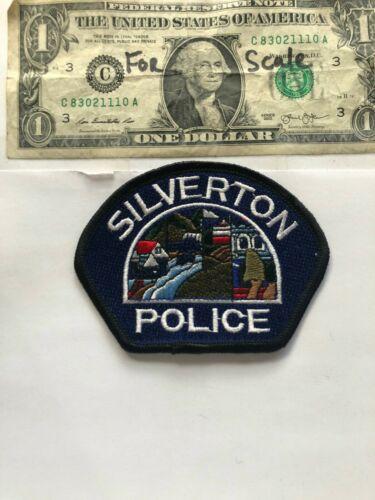 Silverton Oregon Police Patch un-sewn great condition