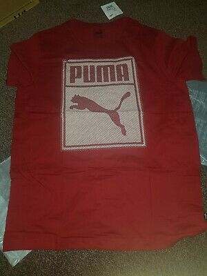 Puma T shirt mens 1 item red or green