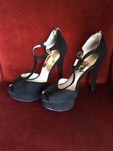 Michael kors women black suede shoes
