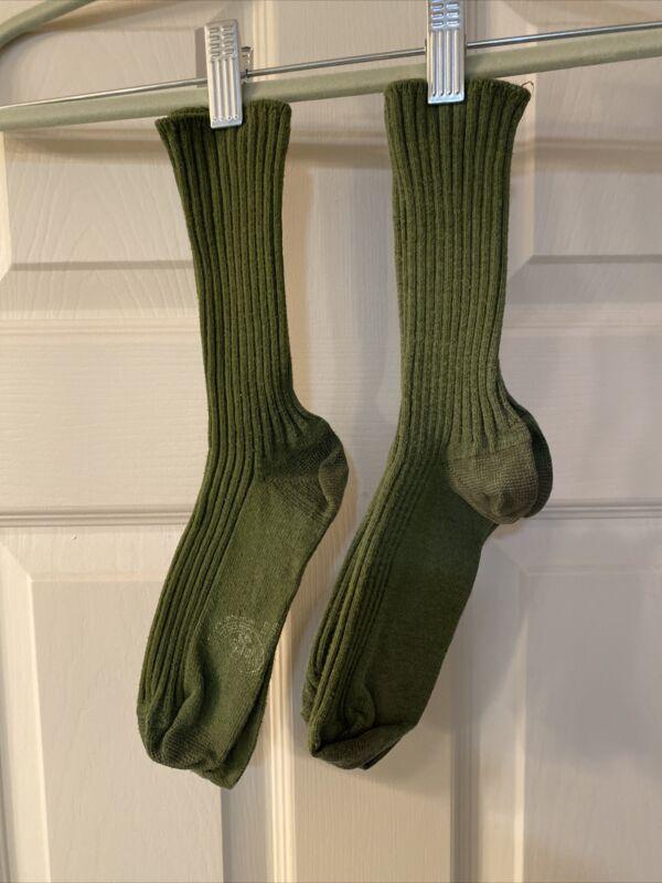 2 Pair Older Style Boy Scout BSA Ankle High Uniform Socks Smaller Size