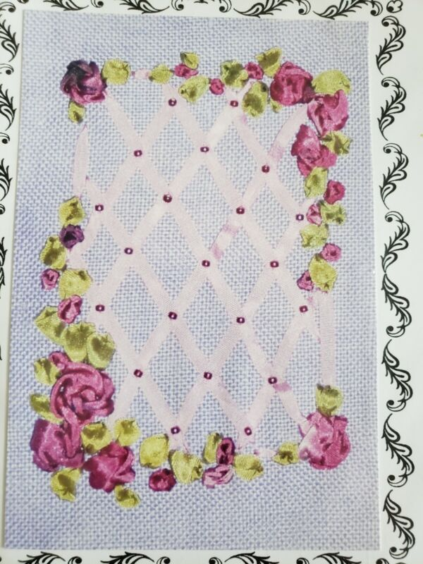 Rose Trellis Hand Dyed Silk Ribbon Embroidery Kit Divine Threads