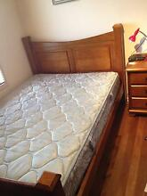 Tasman Oak Queen Bed $500 & Bedside Table-Excellent condition Abbotsbury Fairfield Area Preview