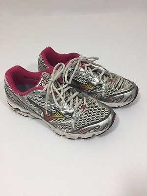 6f39bc6e5e1b Women's MIZUNO WAVE RIDER 12 Pink/White Athletic Running Shoes Size Wide 9