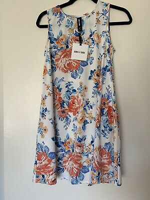 Agnes And Dora Swing Tunic Dress NWT Small Floral