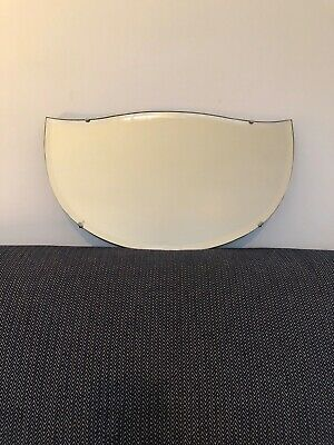 Vintage mirror bevel edged frameless. Great condition for age.52cm x 30cm approx