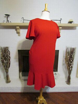 CALVIN KLEIN Women's Red Short Flutter Sleeves Sheath Dress-Size 20W