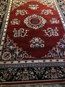Various sizes of area rugs