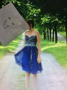 Blue/silver prom/grad dress size 2