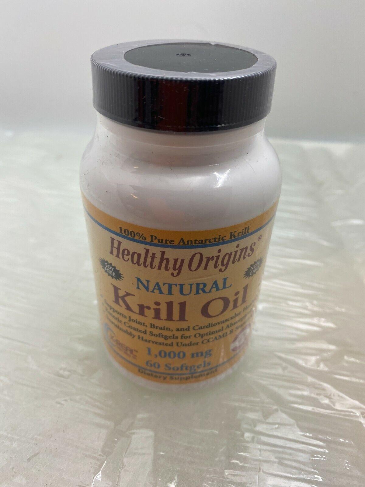 krill oil 1000 mg 60 softgels exp