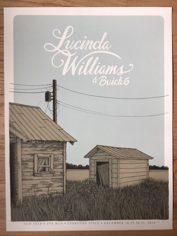 Lucinda Williams 2016 Tour Poster Evanston, IL at The Space
