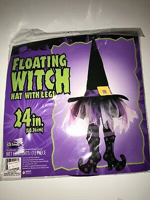 Floating Witch Hat With Legs in Purple Lot of 3