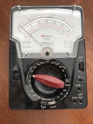 Triplett Model 630-na Type 4 Suspension Analog Voltmeter