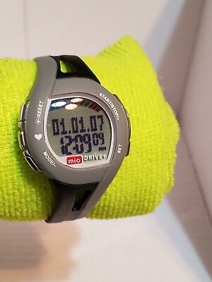 Mio Drive Watch monitor Gray Black Rubber Strap Working - EKG accurate