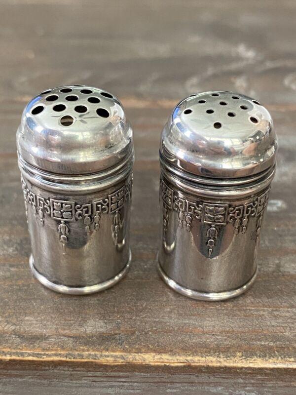 Vintage Sterling Silver Miniature Weidlich #7721 Salt & Pepper Shakers 0821