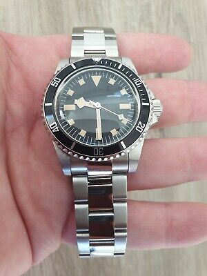 Men's Watch Automatic Vintage Snowflake hands Submariner 1960 Heritage Bay