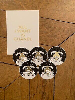 CHANEL 5 mini CARTES + 1 grande carte Edition spéciale NOEL