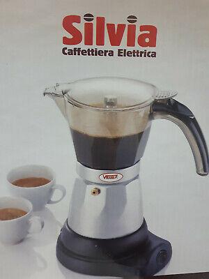 Caffettiera macchina per il caffè elettrica 3 tazze moka base rotante 480W VELOX