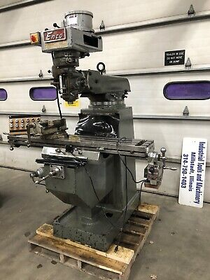 Enco 10x54 Milling Machine 3hp 3ph With Tooling Bridgeport Type Vise Collets
