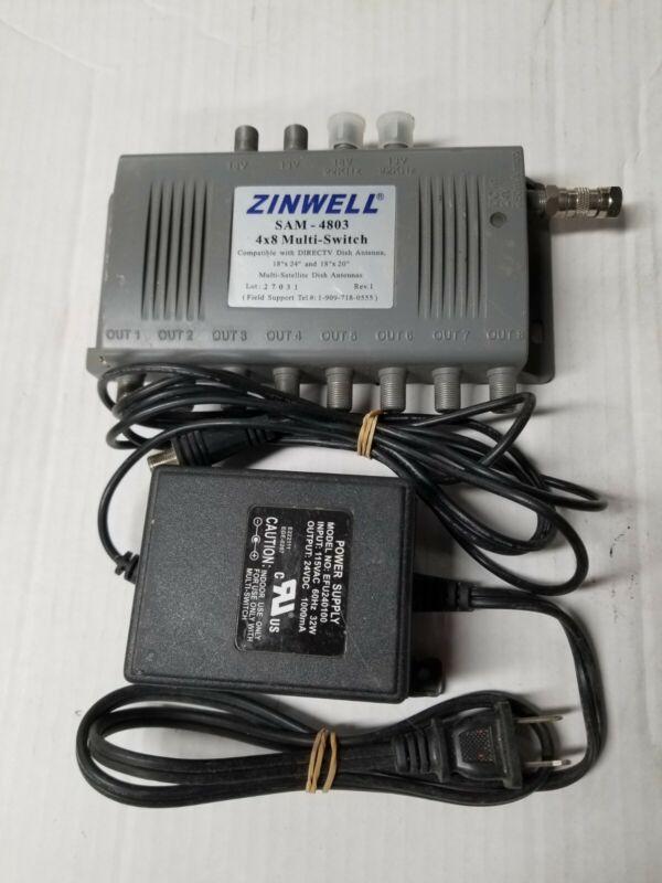 Zinwell SAM 4803 4x8 Multi Switch DirecTV Dish Satellite Antenna w/ Power Supply