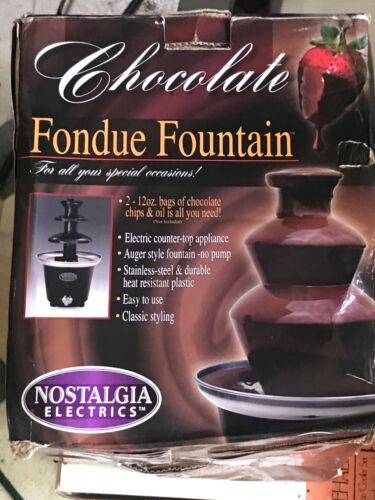Nostalgia 3-Tier 1.5-Pound Capacity Chocolate Fondue Fountai