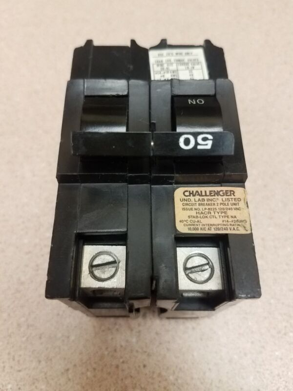 FPE Federal Pacific NA250 Stab-Lok 50 Amp 2 Pole 50A 2P  THICK