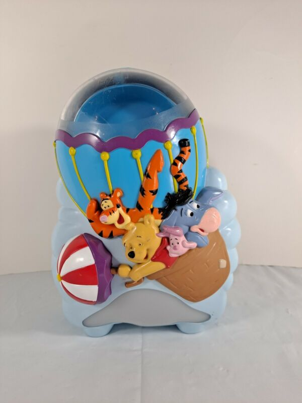 Vtg Disney First Years Winnie The Pooh Musical Baby Soother Crib Light Projector