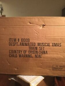 Have a animated musical Xmas train set