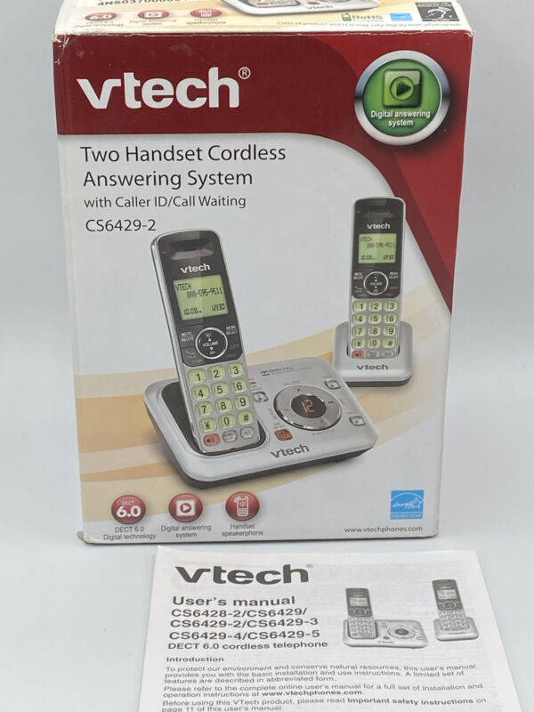 VTech CS6429-2 Expandable Cordless Phone with Voicemail LED Indicator