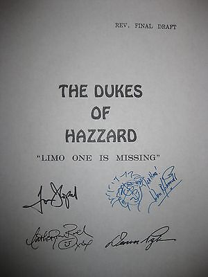 The Dukes of Hazzard Signed TV Script Tom Wopat John Schneider Bach Pyle reprint