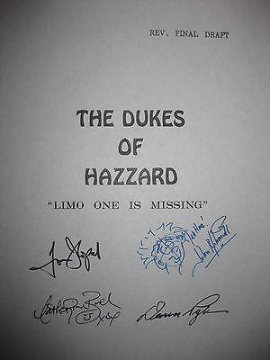 The Dukes of Hazzard Signed TV Script Tom Wopat John Schneider Bach Pyle reprint