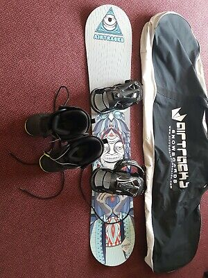 Snowboard Set Airtracks Addicted2be + Binding Master + Boots + Bag 150 cm