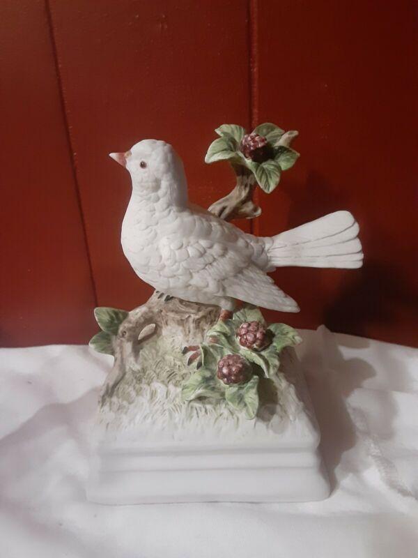 Gorham WHITE DOVE BIRD MUSIC BOX-Works