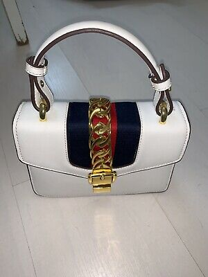 White Chain Handbag Purse Mini Bag Micro Gucci