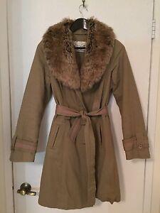 Brown Winter Coat with Fur