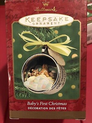 "HALLMARK 2000 Keepsake Ornament ""Baby's First Christmas"" Silver Cup RARE NEW"